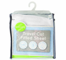 PlainTravel Cot Fitted Sheet - White Size: 73 x 105 x 10cm>>