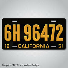 Back to the Future Biff's Ford 6H 96472 Aluminum License plate Tag New