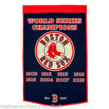 2013 BOSTON RED SOX WORLD SERIES CHAMPIONS WOOL DYNASTY BANNER ORTIZ CHAMPS NEW