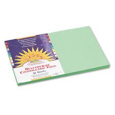 Sunworks Construction Paper 58 lbs. 12 x 18 Light Green 50 Sheets/Pack 8107