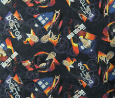 Patchwork Quilting Sewing Cotton Fabric Dr Who Doctor Material 50x55cm
