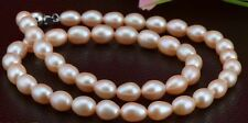 "18"" 12-13mm genuine natural south sea pink pearl necklace DA36"