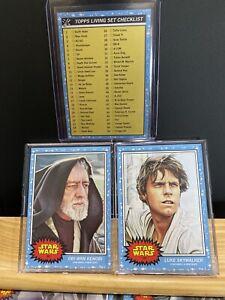 🛑👀 Topps Star Wars Living Set 3-card #99-100 CL1 Luke Skywalker Obi-wan Kenobi