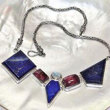 Echtschmuck-Halsketten & -Anhänger aus Sterlingsilber mit Lapis Lazuli und Cabochon