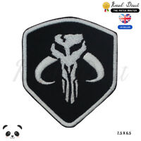Mandalorian Star Wars Shield Movie Embroidered Iron On /Sew On Patch Badge