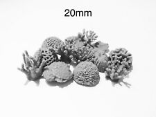 20mm Coral Base Decorations -basing elements for any war gaming collection