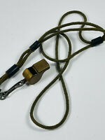 Vintage HEAVY DUTY brass military army marines whistle