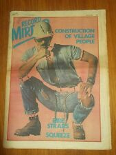 RECORD MIRROR APRIL 14 1979 VILLAGE PEOPLE DIRE STRAITS SQUEEZE STRANGLERS GAY
