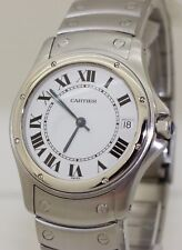 Large 34mm Stainless Steel Cartier Santos Ronde Automatic - 1920.1