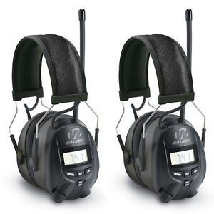 Walkers Hearing Protection Over Ear AM/FM Radio Earmuffs, 2 Pack | GWP-RDOM