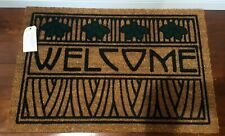 "Natural Fiber Coir Outdoor DARD HUNTER ARTS & CRAFTS IRIS WELCOME MAT 18"" x 29"""