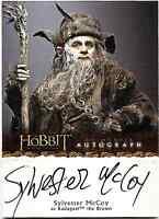 The Hobbit Unexpected Journey Auto Autograph Card Sylvester McCoy A20 A-20
