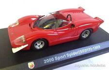 1/43 2000 SPORT SPIDER SE010 ABARTH 1969 HACHETTE DIECAST