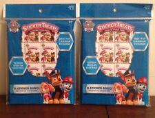 LOT of 2 Sticker Paw Patrol Treats 16 Sticker Boxes Each Party Favors Classroom