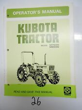 Kubota M7030 M8030 Tractor Operator's Owner's Manual 35593-9971-2