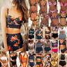 Damen Bikini Set Gepolstert Push Up Badeanzug High Waist Schwimmanzug Bademode