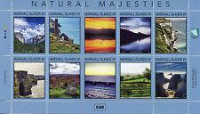 Marshall Islands 2017 MNH Natural Majesties 10v M/S Tourism Landscapes Stamps