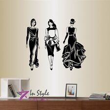 Wall Vinyl Decal Girls Women Ladies Models Modeling Fashion Style Room Decor 800