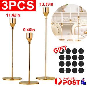 3Pcs/set Tulip Nordic Candlesticks Gold Candlestick Candle Holders Dinner Decor