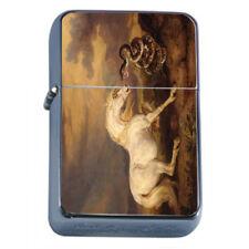 Horse Snake Em1 Flip Top Oil Lighter Wind Resistant With Case
