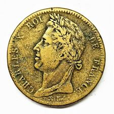 10 cent Charles X Colonies 1827 H