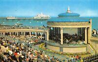 Vintage East Sussex Postcard, The Bandstand, Eastbourne HL0