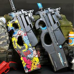 P90 Electri Action Weapon Gel Blster GUN TOY WATER CRYSTAL Ball + FREE BULLETS