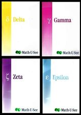 Math U See Instruction DVD Lot of 4 Delta Gamma Zeta Epsilon