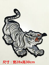 Large patch Embroidery tiger Applique cloth accessory sweater coat jacket dress