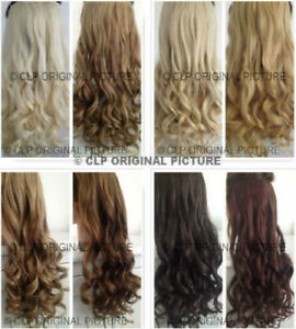 Synthetic Clip In Hair Extensions 1PC Long Curly Half Head Like Real Hair UK