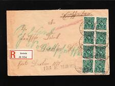 Germany Inflation Registered Roslasin Mulitple Stamps Cover z86