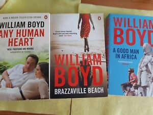 William Boyd Paperback Bundle, 3 Fiction Books