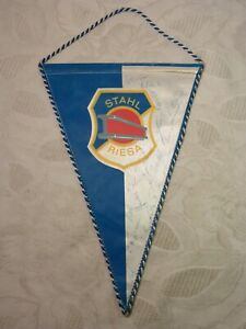 Age Pennant GDR Steel Riesa With Signatures Signature Autographs