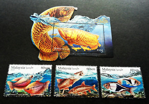 *FREE SHIP Malaysia Ornamental Fishes 2018 Pet Fish (stamp ms MNH *foil *unusual