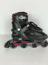 Mongoose Girls Roller Blade Black / Pink Adjustable Size 5-8