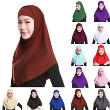 Amira 2pieces On the Go Instant Jersey Cotton Basic Head Hijab Scarf Muslim Wrap