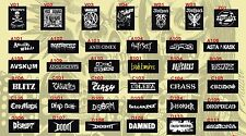 3x PUNK PATCHES Conflict Ramones Exploited Casualties Sex Pistols Gauze Dropdead