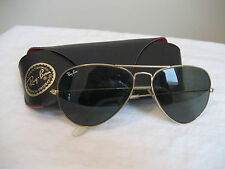 VINTAGE B&L  RAY-BAN  58MM GOLD PLATED G15 AVIATOR SUNGLASSES C 1980'S