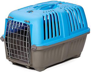 Pet Carrier: Hard-Sided Dog Carrier, Cat Carrier, Small Animal Carrier in Blue|