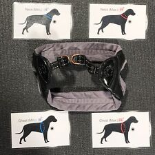 Top Paw Adjustable Dog Harness - Black & Gray Padded Step-in Sling Loop w Buckle