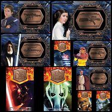 STAR WARS CARD TRADER  - BRONZE MEDALLIONS WAVE 3 SET - 10 CARDS - NO AWARD