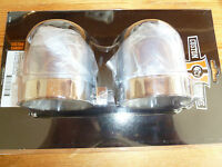 HARLEY DAVIDSON SHOVELHEAD MODELS CHROME UPPER SHOCK MOUNT COVERS NEW
