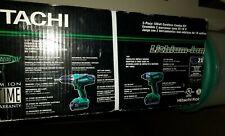 New Hitachi KC18DGL Drill and Impact Driver Combo Kit, 18 V Kit