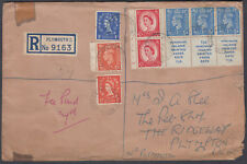 Plymouth Registered inc. KGVI / QEII Booklet Mixed Franking; unusual but v.Tatty