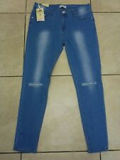 """Simply Chic Black Edition Kendall Ripped Knee Jeans Size 14 L28"""" BNWT Denim Blue"""