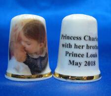 Birchcroft China Thimble - Princess Charlotte with Prince Louis -- Free Gift Box