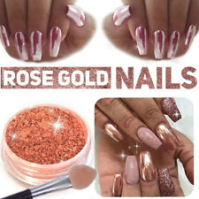Rose Gold Nail Mirror Powder Nails Glitter Chrome Powder Nail Art Decorations