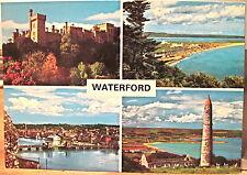 Irish Postcard WATERFORD Multiview Lismore Tramore River Suir Ireland John Hinde