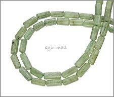 "15.5"" Green Kyanite Round Tube Beads ap.4-5mm #70043"