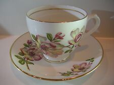DUCHESS BONE CHINA FLORAL CUP & SAUCER SET MADE IN ENGLAND